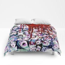 Ahegao Hentai Manga Anime Multicolor Girls Collage Halloween Comforters