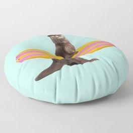 SURFING OTTER Floor Pillow