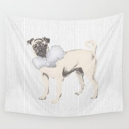 Pug in a Ruff Wall Tapestry