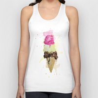 icecream Tank Tops featuring ICECREAM by Creepstian