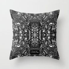 King of the City Black and White Throw Pillow