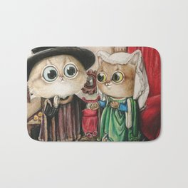 Kitty Arnolfini Portrait Bath Mat