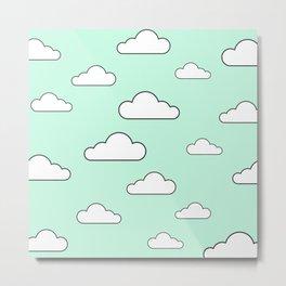Minty Sky x Cloud Metal Print