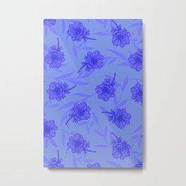 Anemone Field Blue Metal Print