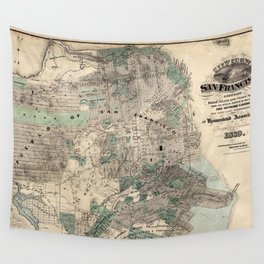 Map of San Francisco 1869 Wall Tapestry
