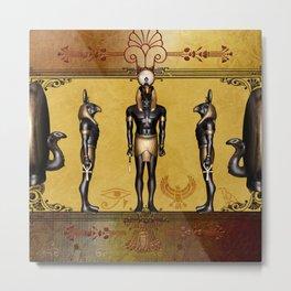 Horus Egyptian deities. Metal Print
