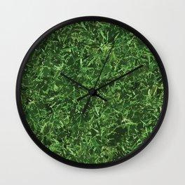 Nature Grass Design Pattern Camouflage Wall Clock