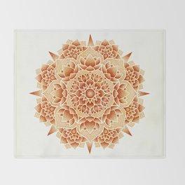 Oxide Lotus Mandala Throw Blanket