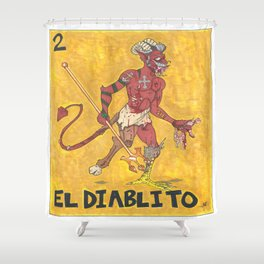EL Diablito Shower Curtain