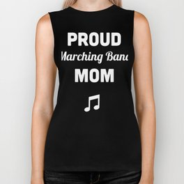 Proud Marching Band Mom Biker Tank