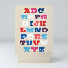 Typography Alphabet from A to Z Mini Art Print
