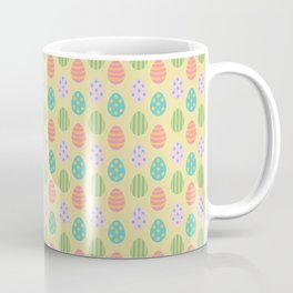 Easter Eggs Yellow Background Coffee Mug