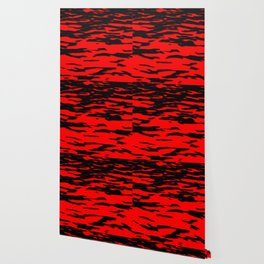 Black red abstract wave Wallpaper