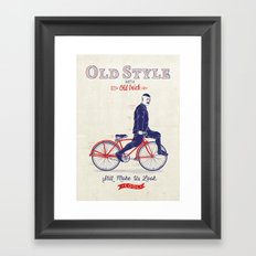 Old Style Trick Framed Art Print