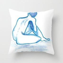 So Blue Throw Pillow