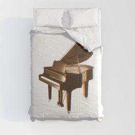 The piano orange Comforters