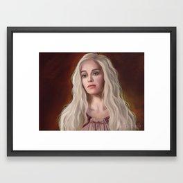 Blond Framed Art Print