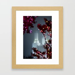 Washington DC LDS Temple at Christmas Framed Art Print