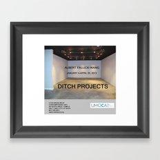 UMOCA Artforum Advertisement Framed Art Print