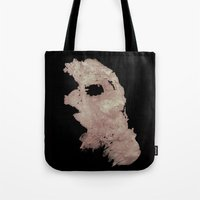 in the flesh Tote Bags featuring Flesh by Vezper Art