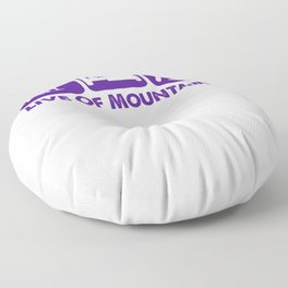 Live Of Mountains pu Floor Pillow