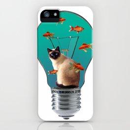 Siam Cat - Light Bulb - Goldfishes iPhone Case