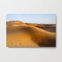 Sand Dunes in Sahara Desert, Morocco Metal Print