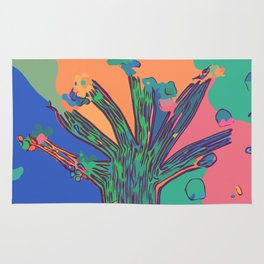 Colorful First Sprint Blossoms Rug