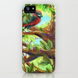 Bird up a Tree iPhone Case