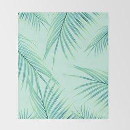 Summer Palm Leaves Dream #1 #tropical #decor #art #society6 Throw Blanket