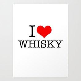 I HEART Whisky Art Print