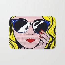 Pop Art Glamour Girl Bath Mat