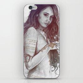 You Lied: Rainbow (nude girl with mehndi tattoos) iPhone Skin