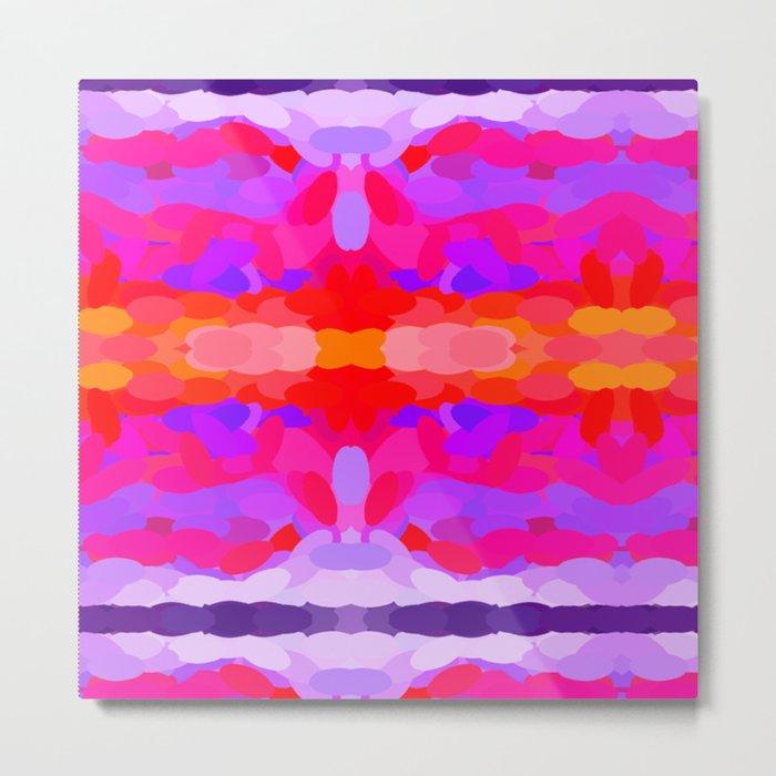 Purple, pink and orange tie dye Metal Print