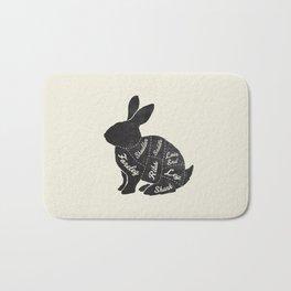 Rabbit Butcher Diagram Bath Mat