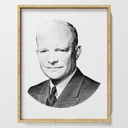 President Dwight Eisenhower Graphic Serving Tray