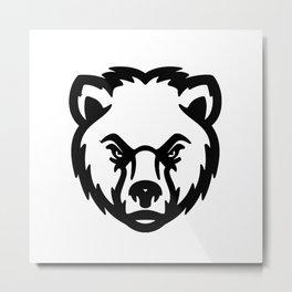bear head Metal Print