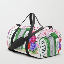 Accordion with roses Duffle Bag