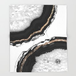 Agate Glitter Glam #2 #gem #decor #art #society6 Throw Blanket
