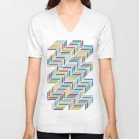 herringbone V-neck T-shirts featuring Herringbone 45 Colour by Project M