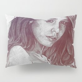 You Lied: Rainbow (nude girl with mehndi tattoos) Pillow Sham