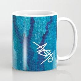 Blue spheres and tears VI right side  Coffee Mug