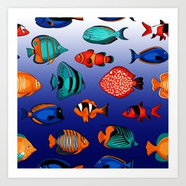 Peces tropicales Art Print