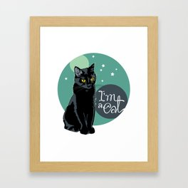 Good night Cat! Framed Art Print
