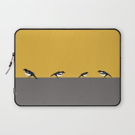 Mustard Magpies Laptop Sleeve