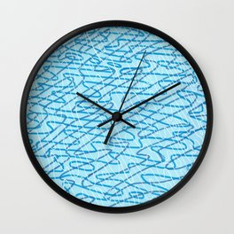 Blue Ripples Wall Clock