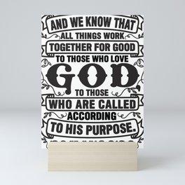 Romans 8:28 Mini Art Print