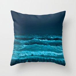 Blue wild Energie Throw Pillow