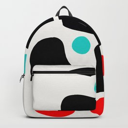 Abstract Art Minimalism Blue Black and Red Backpack