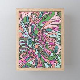 I Found my Friends (Pink/Green) Framed Mini Art Print